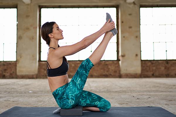 Yogamatte stretching yoga