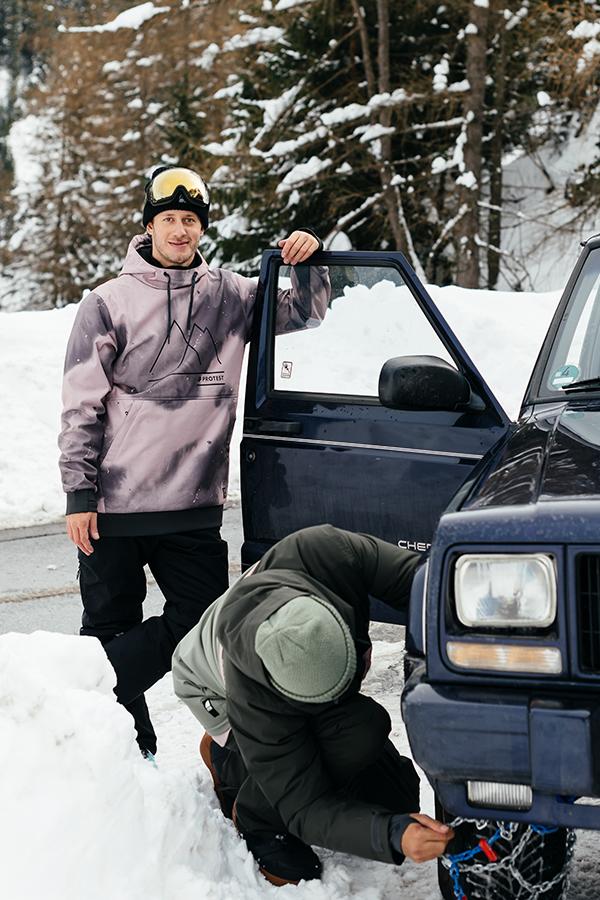 Snowboarding Schneehemd Protest