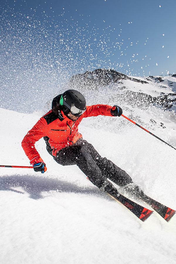 Ski Alpin Skistöcke Helm Skijacke